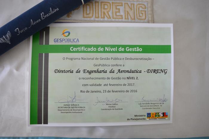 Dirinfra Direng é Condecorada Com Certificado De Modelo De