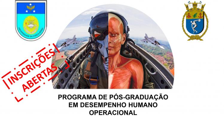 PÓS-GRADUAÇÃO – Universidade da Força Aérea abre Processo Seletivo para o Mestrado em Desempenho Humano Operacional (PPGDHO)