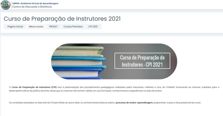 EXTENSÃO - PROEXT finaliza a fase à distância do Curso de Preparação de Instrutores (CPI)